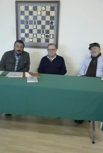 Miguel Uris, Sebastián Pérez y José Carlos Morenilla.