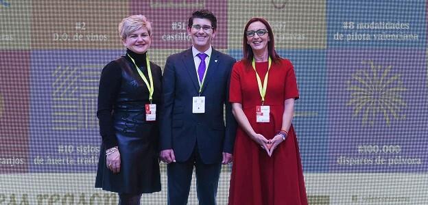 Pilar Moncho, Jorge Rodríguez y Maria Josep Amigó durante su comparecencia en Fitur.