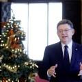 GRAF159 VALENCIA (Comunidad Valenciana), 1/01/2018. El presidente de la Generalitat, Ximo Puig, pronuncia su tradicional discurso de fin de año, el tercero que realiza como jefe del Gobierno valenciano y en el que repasa lo más destacado del año que ha acabado y avanza los principales retos del próximo ejercicio. EFE/Kai Försterling