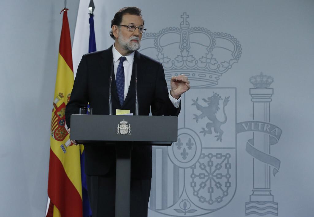 21/10/2017. Consejo de Ministros extraordinario Rajoy EFE/Juan Carlos Hidalgo