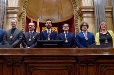 Roger Torrent es elegido presidente del Parlament catalán.