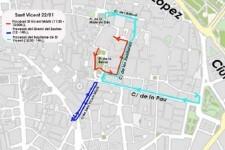 Tráfico informa de los cortes a la circulación por la celebración de San Vicente Mártir.