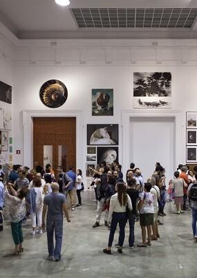 Visitantes al Centre del Carme.