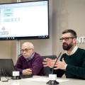 VALENCIA  2018-02-22 El regidor de Cultura Festiva, Pere Fuset, presenta en roda de premsa, els passes de la Mascletˆ per a la Ciutadania. Sala de Premsa Municipal.