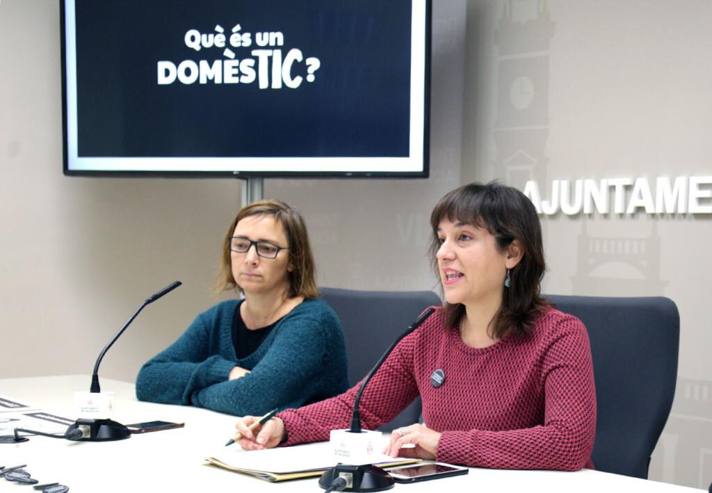 VALENCIA  2018-02-27 La regidora d'Igualtat i Pol'tiques Inclusives, Isabel Lozano, presenta en roda de premsa la Campanya Municipal del dia 8 de mar, Dia Internacional de les Dones. Sala de premsa municipal.