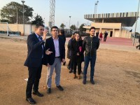 1-Jorge Rodríguez y Toni González sobre la superficie de lo que será el nuevo campo de fútbol