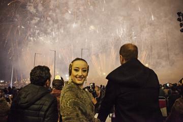 Amstel reconoce a todas las Fallas valencianas con un emocionante y atronador espectáculo pirotécnico ( (7)