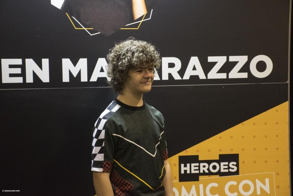 Dustin de Stranger Things a la Comic Con Gaten Matarazzo 20180224 (13)