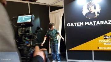 Dustin de Stranger Things a la Comic Con Gaten Matarazzo 20180224 (2)