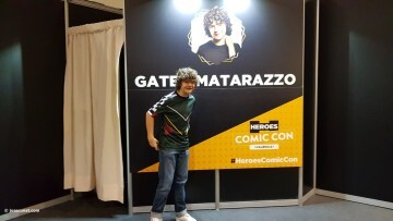 Dustin de Stranger Things a la Comic Con Gaten Matarazzo 20180224 (4)