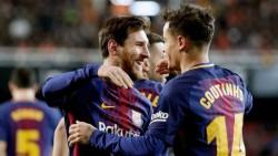 El Barça se impone al Valencia (0-2) y es finalista de la Copa del Rey.