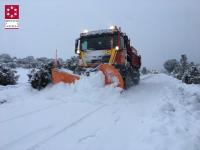 El Consorcio Provincial de Bomberos mantiene un dispositivo de 150 efectivos para dar la mejor respuesta a los efectos de la nieve