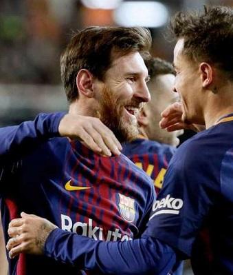 El Valencia no pudo con Messi y sus compañeros.