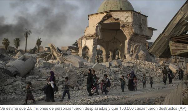 El costo de la guerra con el Estado Islámico Irak necesita 88 200 millones de dólares para la reconstrucción del país Infobae