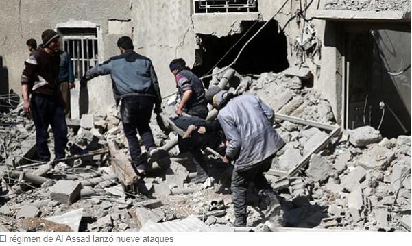 El régimen de Bashar al Assad rompió la tregua humanitaria decretada por Rusia y lanzó nueve ataques en Guta Oriental Infobae