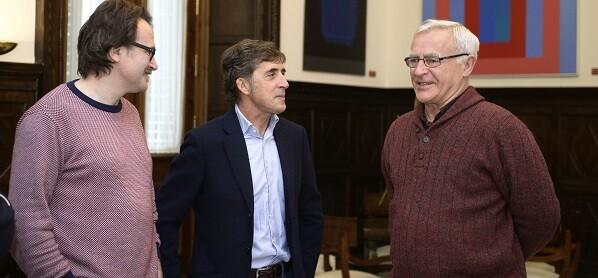 Grezzi, Perico Delgado y Ribó.