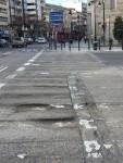 Mal estado asfalto Plaza San Agustin