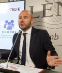 Toni Gaspar presenta el primer Plan Estratégico de Subvenciones de la Diputació de València.
