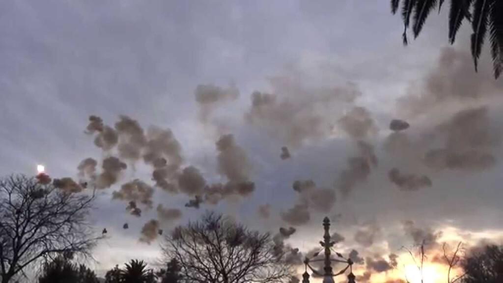 El vídeo del espectáculo pirotécnico ofrecido por Gori y Valenciana  mascletá aérea