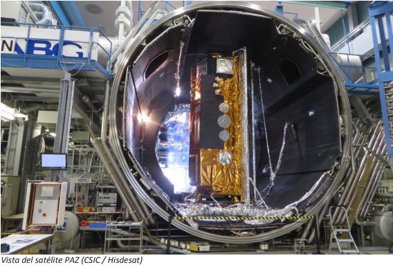 Investigadores del CSIC incorporan al satélite PAZ tecnología para detectar y cuantificar lluvias intensas