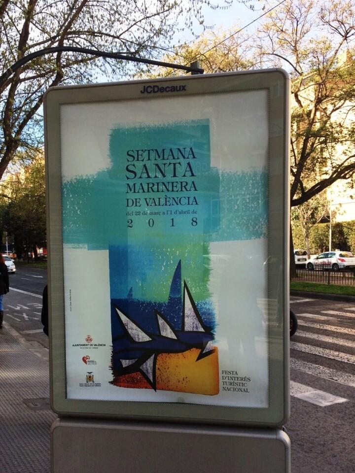 0323 Cartell Setmana Santa Marinera al carrer
