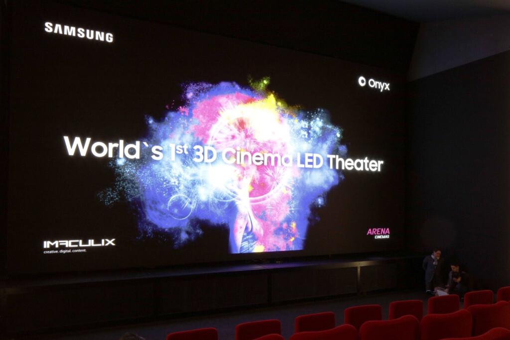 Die Premiere des weltweit ersten Samsung 3D Cinema LED Screen im europaweit ersten LED-Kino fotografiert am Dienstag, 20. Maerz 2018, in Zuerich. (PPR/Aladin Klieber)
