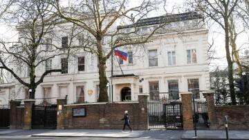 Embajada Rusa en LOndres vacia