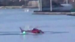 Helicoptero se estrella rio Nueva York