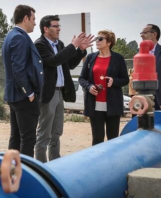 Jorge Rodríguez visitando obras de infraestructuras hidráulicas en la provincia. - copia