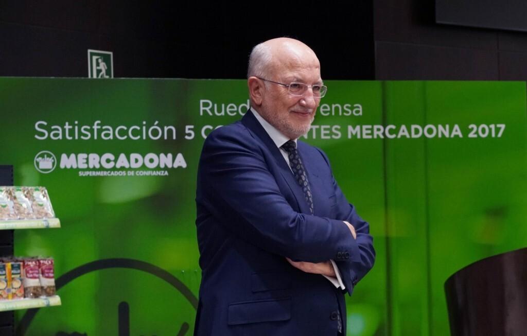 Juan Roig durante la rueda de prensa de Mercadona 2017