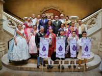 La Diputación de Valencia recibe a las comisiones falleras de Alboraya