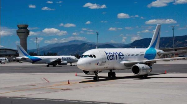 La aerolínea estatal ecuatoriana Tame también suspendió indefinidamente sus vuelos a Venezuela y Cuba Infobae