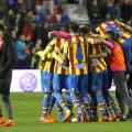 Levante Ud el equipo celebra el gol