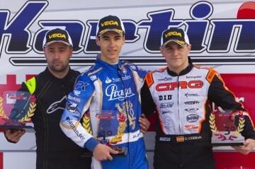 Los pilotos de la Diputación consiguen 5 podios en su estreno en el Campeonato de karting de España.