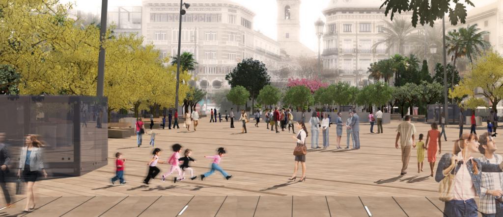 Remodelación de la plaza de la Reina Valencia (3)
