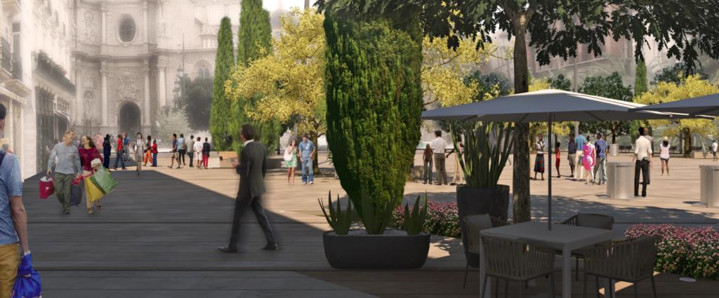 Remodelación de la plaza de la Reina Valencia (4)