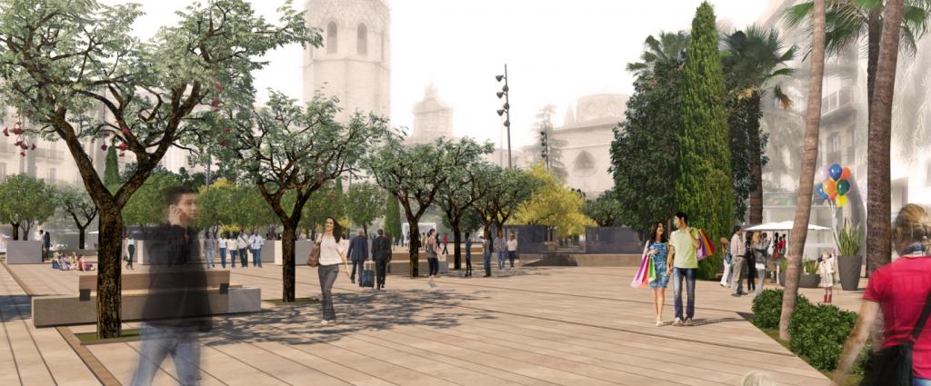 Remodelación de la plaza de la Reina Valencia (5)