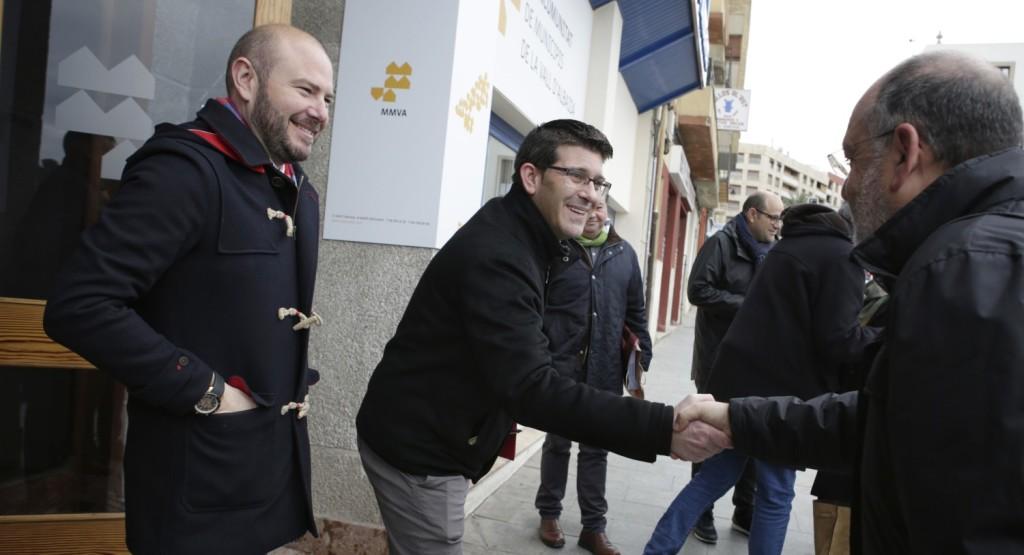 Rodríguez y Gaspar junto a alcaldes de la provincia.