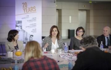 José Cuéllar 14/3/2018 Valencia, Comunitat Valenciana. La concejala de Desarrollo Económico Sostenible de València, Sandra Gómez, presenta el balance de 2017 del Palacio de Congresos.