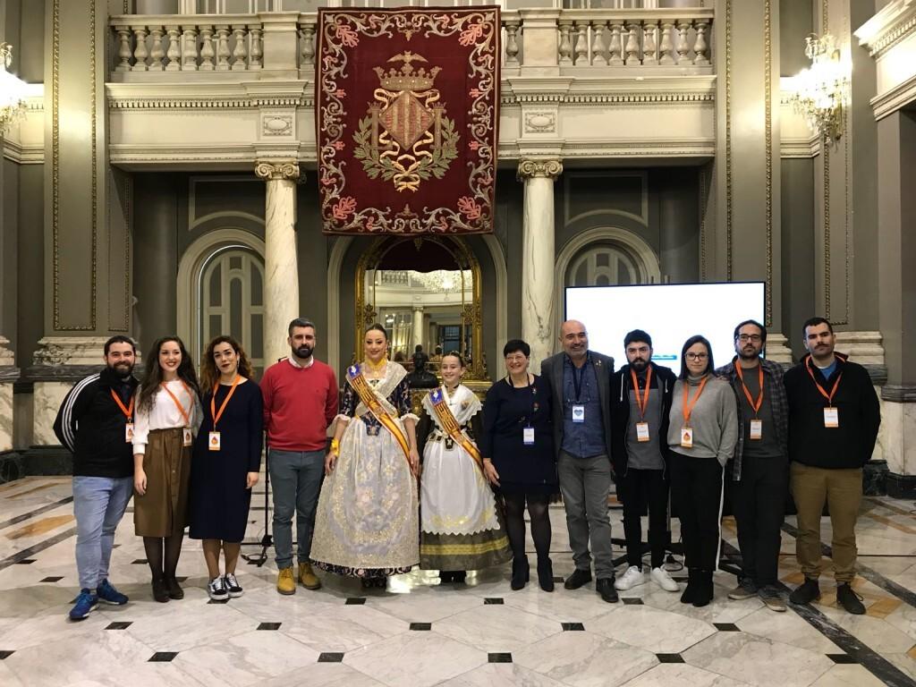 Xavier Rius, Rocío Gil, Daniela Gómez i Pere Fuset amb els autors del vídeo_01