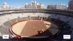 Así se ha transformado la plaza de toros en 5 días para acoger la Davis