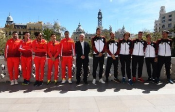 Copa Davis recibida en el Ayuntamiento