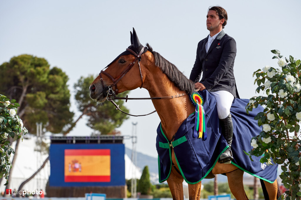 Oliva, Spain - 2018 April 22: Gold tour 1m45 during CSI Mediterranean Equestrian Tour 4 (photo: 1clicphoto.com)
