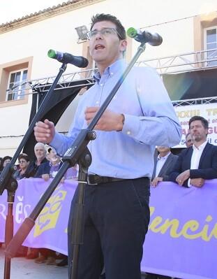 Jorge Rodríguez durante el discurso de les Trobades 2018. - copia
