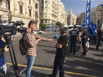 ManifestaciÓn de policíaslocales y bomberos por la falta de plantilla y la situaciónde la seguridad en la ciudad (4)