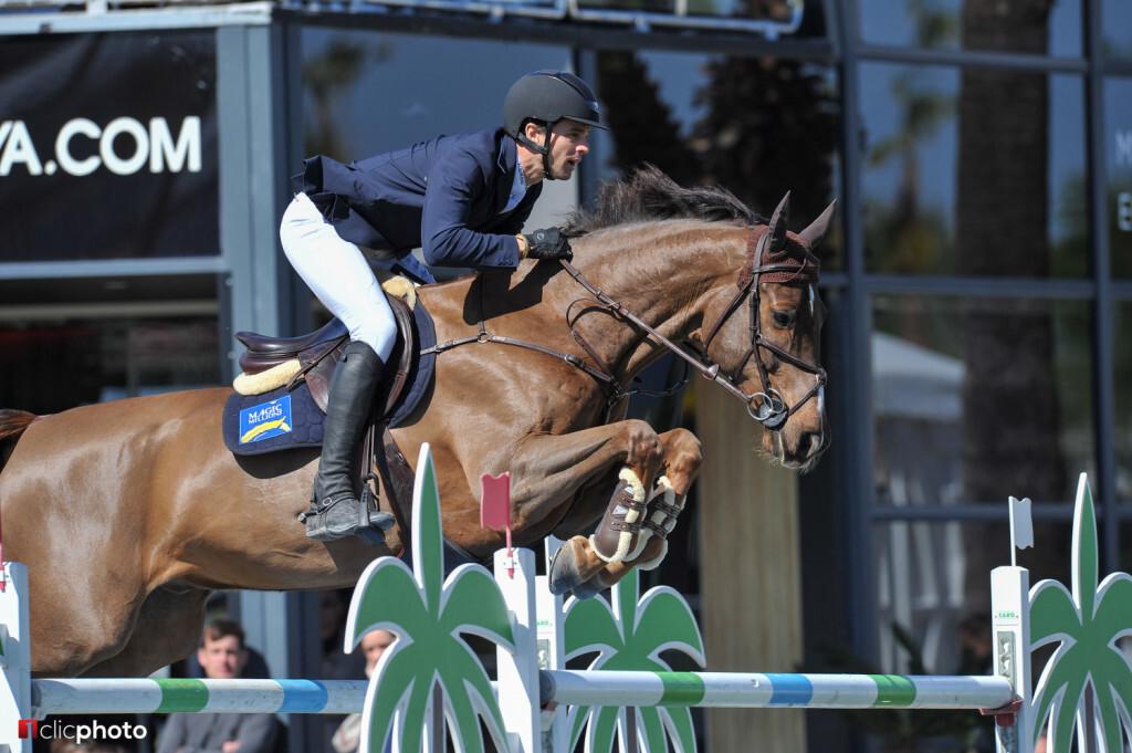 Oliva, Spain - 2018 April 1: Gold tour 1m50 during CSI Mediterranean Equestrian Tour 3 (photo: 1clicphoto.com)