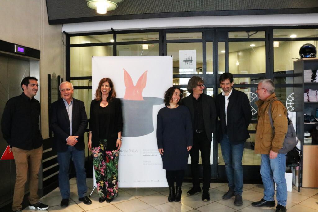 (de izquierda a derecha):  Pau Montagud, Albert Girona, Mónica Payá, Glòria Tello, Nacho Navarro, José Luis Moreno y Emili Payá.