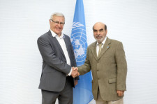04 April 2018, Rome Italy - FAO Director-General Jose Graziano da Silva meeting with Mr Joan Ribo i Canut, Mayor of Valencia, (Australia Room), FAO Headquarters.