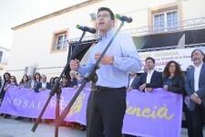 El president de la diputació Jorge Rodriguez en les Trobades d'escoles en valencià de la Ribera en Rafelguaraf 15-04-2018