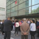 """Protesta de letrados en la Ciudad de la Justicia de València para reclamar la subida que """"el Ministerio debe desde 2009"""""""